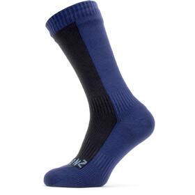 Sealskinz Waterproof Cold Weather Calcetines de longitud media, azul/negro